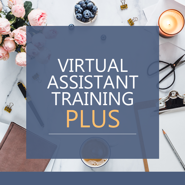 virtual assistant training course plus - online, ondemand virtual assistant training with a complete marketing package including a logo, website with hosting and domain for a year, business cards and a powerpoint template - start your virtual assistant business today